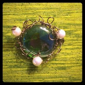 Hand crafted, one of a kind, brooch